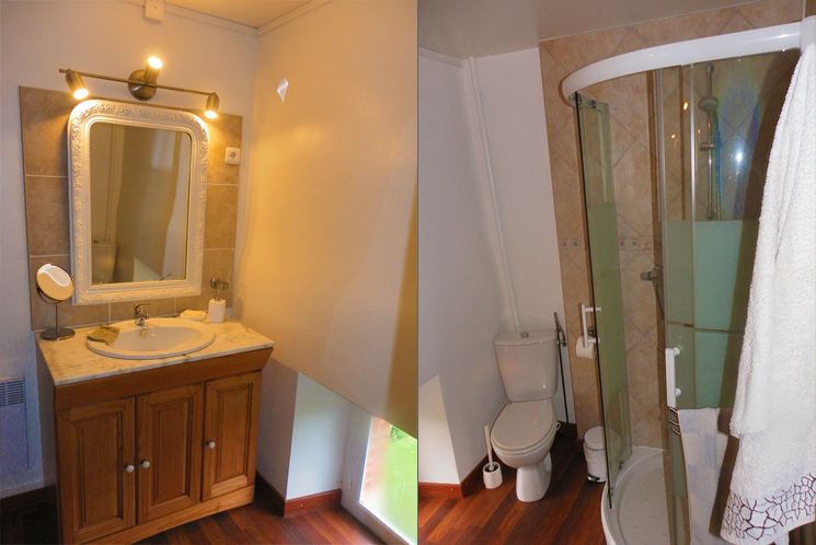 La Flambelle : Shared shower room and WC